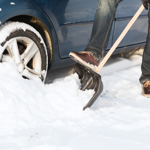 If you're having trouble driving in the snow, you might need winter tires.