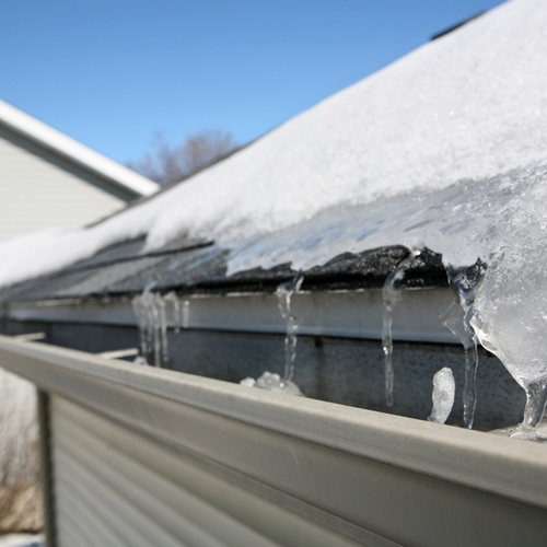 Ice dam buildup can cause serious problems over time.